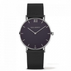 PAUL HEWITT Sailor Line 39 mm quartz bracelet acier noir