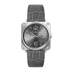 BELL&ROSS BRS OFFICIER AUTOMATIQUE RUTHENIUM