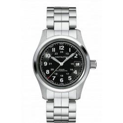 Hamilton khaki field 38mm automatique cadran noir bracelet acier