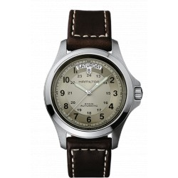 Hamilton Khaki King 40 mm automatique cadran vanille bracelet cuir