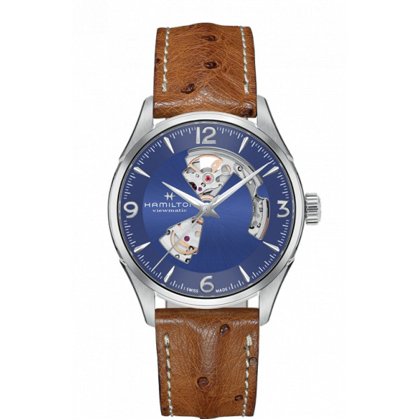 HAMILTON JAZZMASTER OPEN HEART AUTOMATIQUE 42MM BLEU
