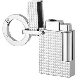 Dupont porte-clés briquet pointe de diamant palladium breloque