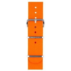 Bracelet nato briston nylon orange fluo